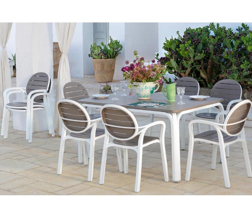 Conjunto terraza mesa 53 alloro y 6 sillas 53 palma for Mesas y sillas para terraza