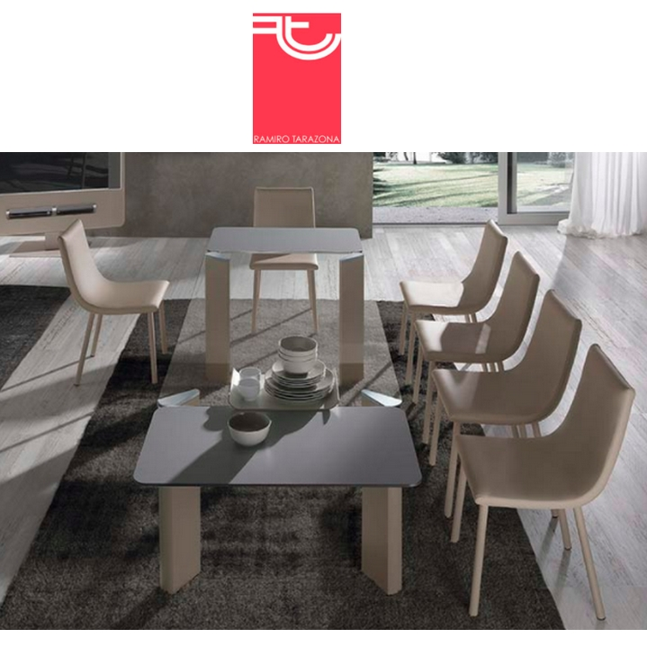 Mesa 36 play plus extensible cristal transparente ramiro - Ramiro tarazona mesas ...