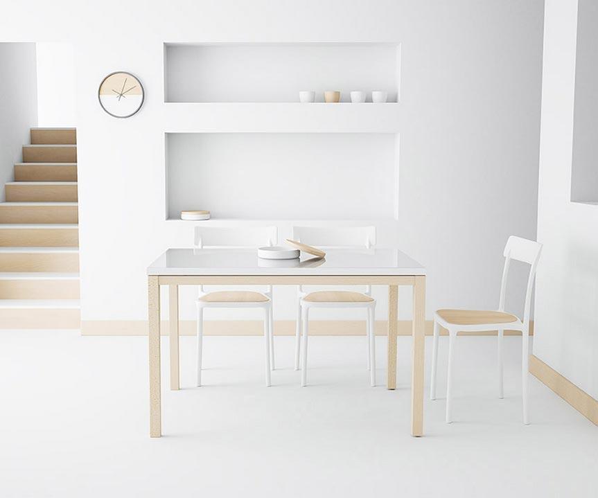 Mesa cocina Toy Cancio patas madera - Sillas Mesas y Taburetes ...