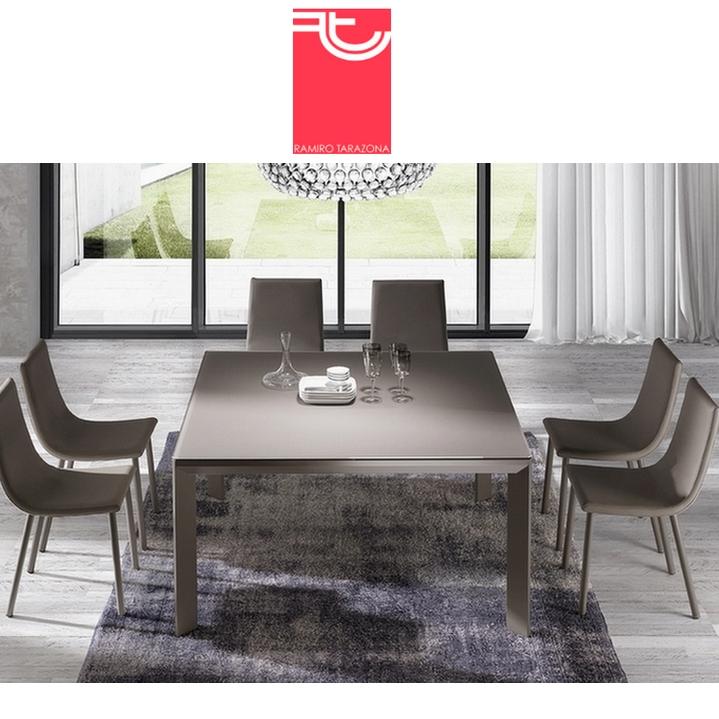 Mesa comedor urban cuadrada fija o extensible ramiro tarazona sillas mesas y taburetes multisilla - Mesa comedor cuadrada extensible ...