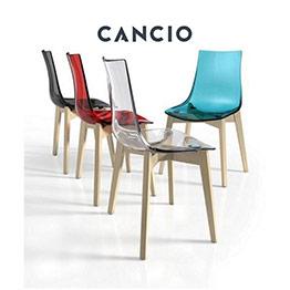 Silla fantasy cancio sillas mesas y taburetes multisilla for Sillas cocina transparentes