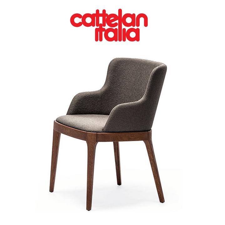 Silla magda cattelan con brazos sillas mesas y taburetes for Sillas con brazos tapizadas