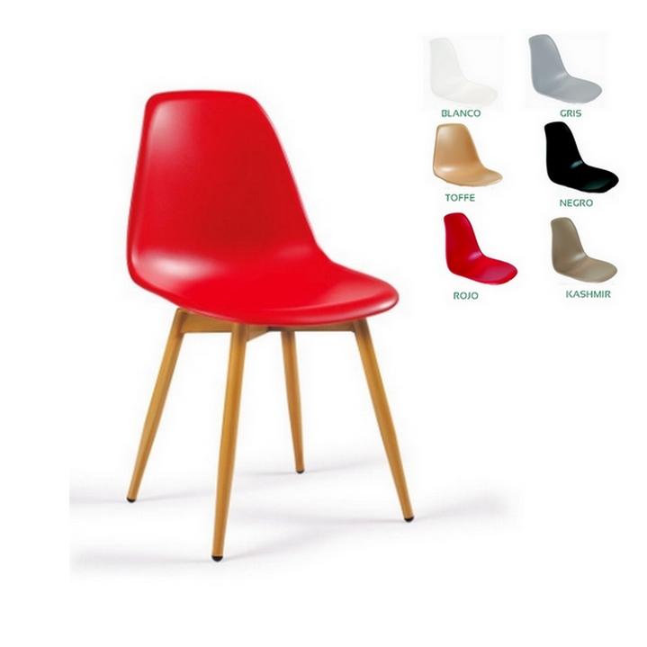 Silla 25 picasso p4 pata acero imitaci n madera sillas for Imitacion sillas diseno
