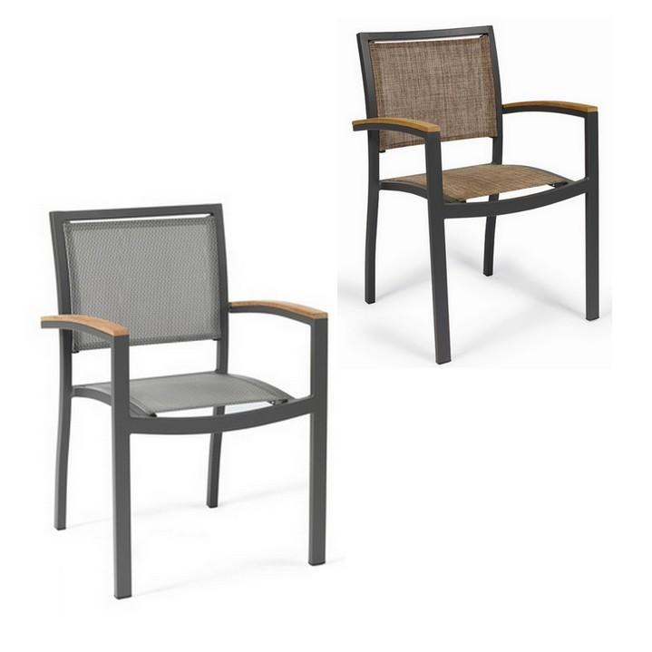 Sill n terraza 25 eros textilene brazo madera sillas for Sillon terraza madera